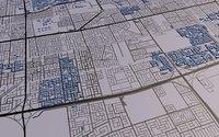 Jeddah 3d city street map Saudi Arabia