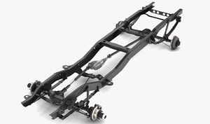 pickup truck chassis 3D
