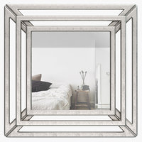 Hust Triple Square Wall Mirror