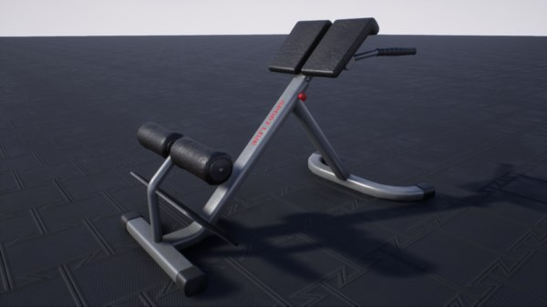 3D pbr hyperextension bench