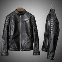 3D mens leather jacket model