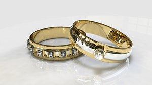 3D engagement rings model