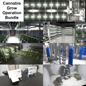 cannabis production facility 3D