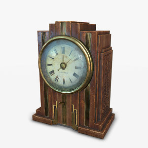 3D antique clock model