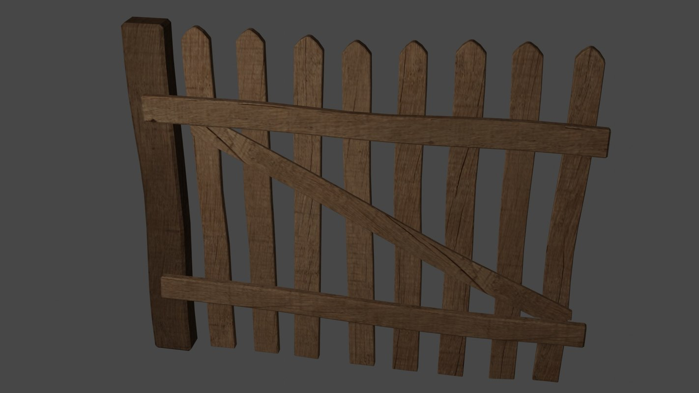 old wood fence 3D model