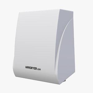3D hand dryer v2 handryer model