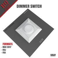 3D model dimmer switch