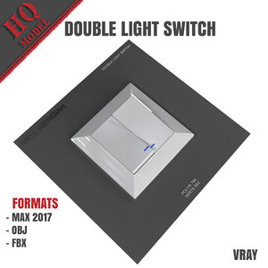 3D double light switch