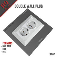 double wall plug 3D model