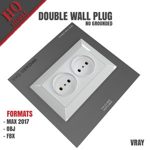 double wall plug grounded model