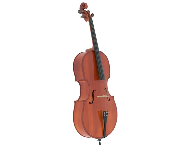 3D cello music instrument model