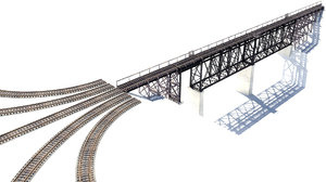 train trestle track 3D model
