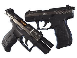pistol p22 3D model