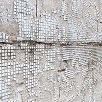 3D realistic damaged wall