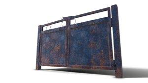 3D old metal gate