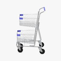 3D trolley supermarket market