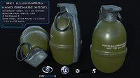 3D model mk1 illumination hand grenade