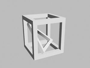 tetracube 3D model
