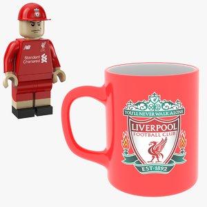 3D model man mug liverpool lego