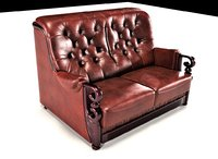 3D london sofa double