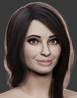 female head sculpt 3D model
