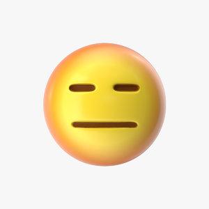 emoji 26 expressionless face model