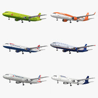 3D model airbus a-321 6 liveries