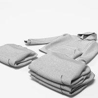 3D set male hoodie