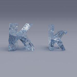 font ice k 3D model