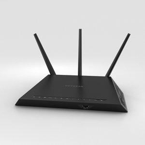3D netgear ac1900 wi-fi model