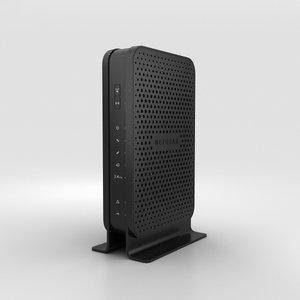 3D model netgear c3000 wi-fi