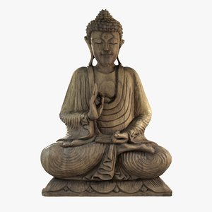 3D scanned buddha statue model