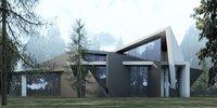3D modern buildings houses 230 model
