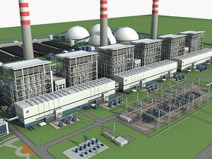 coal generating station 3D model