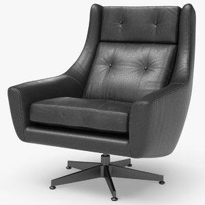 motorcity leather swivel chair 3D model
