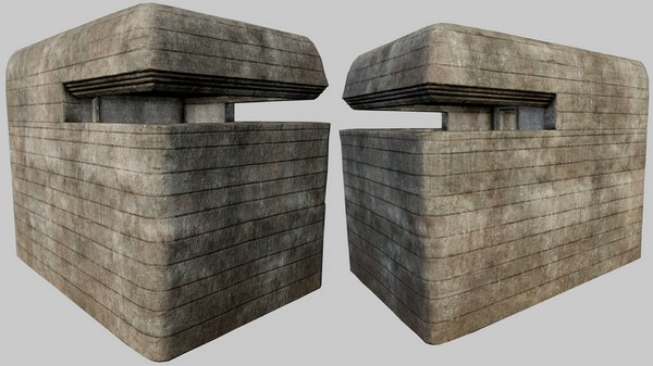 Concrete Bunker PBR 01