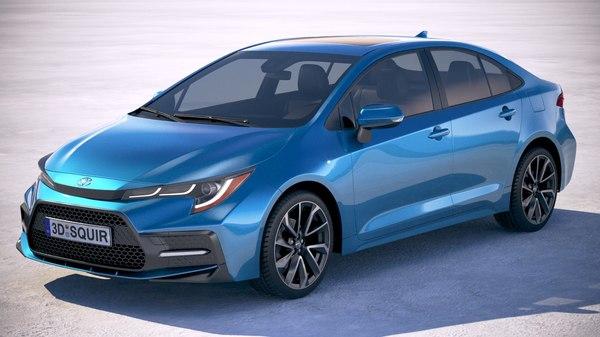 3D model toyota corolla sedan