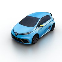 2017 renault zoe e-sport 3D model