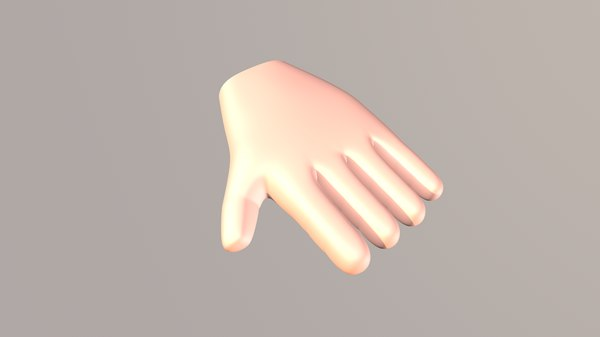3D cartoony hand