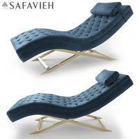 safavieh monroe chaise 3D