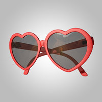 3D glasses heart