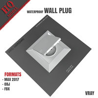 waterproof wall plug 3D model