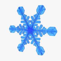 realistic snowflake 2 3D model