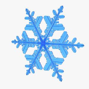 3D realistic snowflake 3 model