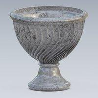 3D urn marble concrete model