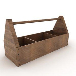wooden tool box 3D model