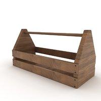 3D wooden tool box