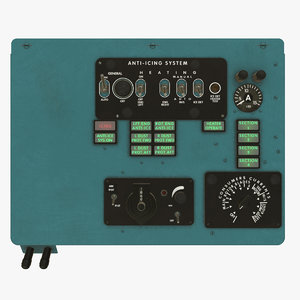 left overhead panels board 3D model