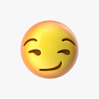emoji 29 smirking face 3D model