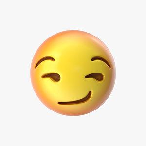 emoji 29 smirking face 3D model